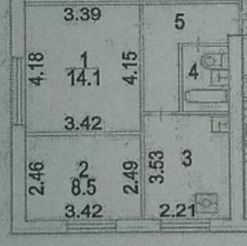 2х-комн.квартира м.Профсоюзная, ул.Парфенова, д18 - Фото 2