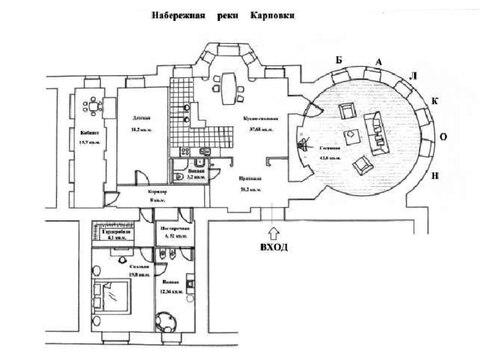 Продажа видовой квартиры в Петроградском районе наб. реки карповки - Фото 1