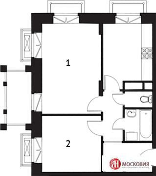 Продам 2-комнатную квартиру вблизи метро Славянский бульвар - Фото 3