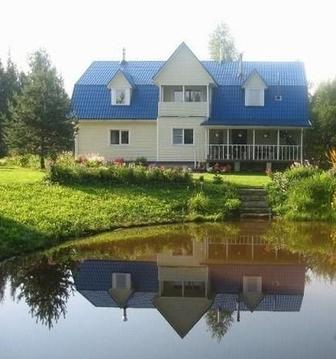 Сдается двух этажный дом на берегу собственного пруда - Фото 1