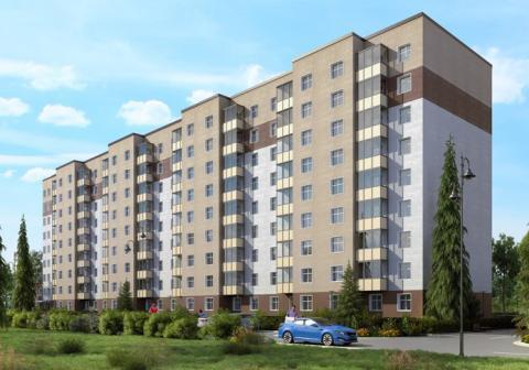 1 комнатная квартира 48.6м2 , г.Клин, Майданово. Новый дом. - Фото 1