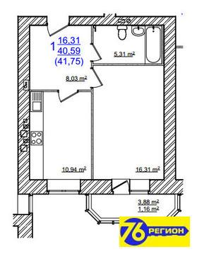 1-комнатная квартира в кирпич доме на Моховой - Фото 5
