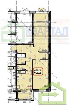 Двухкомнатная 75 кв.м. в новом доме в центре - Фото 2