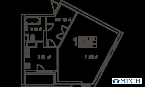 1-комн квартира в ЖК Дыхание 61,5 м2 - Фото 1