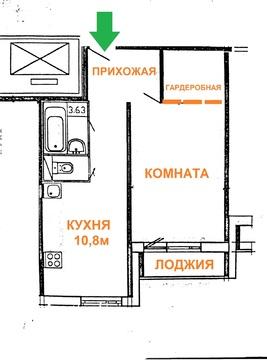 Продается отличная 1-к.кв с ремонтом и мебелью, рядом с метро - Фото 4