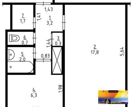 Однокомнатная квартира на ул. Стойкости - Дешево - Фото 5