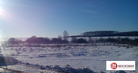Участок 15,8 соток у реки в Рыжово, 35км по Калужскому шоссе - Фото 1