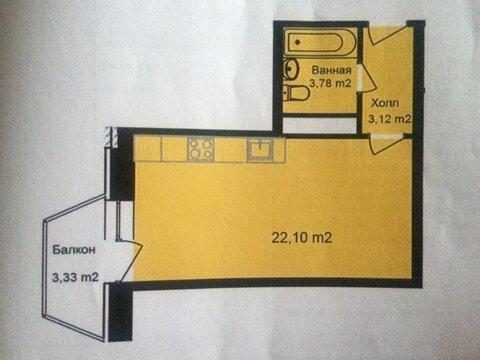 1-комнатная -студия , г.Апрелевка, ул.Жасминовая , д.6 - Фото 1