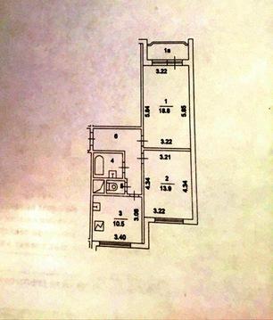 Продам: 2 комн. квартира, 56.9 м2, м.Речной вокзал - Фото 3