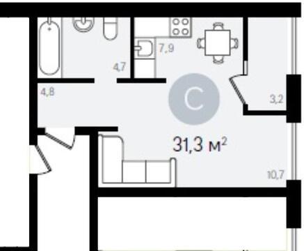 1 комнатная квартира в Видном - Фото 2