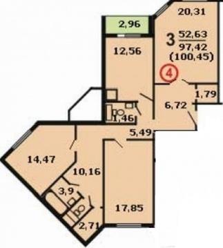 Продается квартира, Чехов, 100м2 - Фото 2