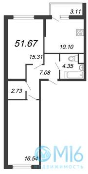 Продажа 2-комнатной квартиры, 57.67 м2 - Фото 2