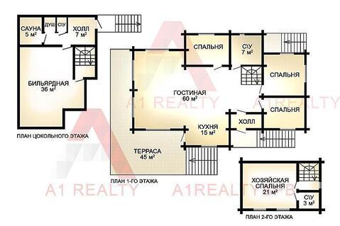 Усадьба коттедж 3-х этажным домом 240 кв.м. 80 соток озеро Игора - Фото 3