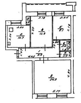 3-х комнатная квартира ул. Правды д.37/1 - Фото 1
