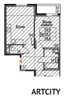 Продажа 2-комнатной квартиры, 54.8 м2, ул. Шоссейная, к. корпус 1 - Фото 1