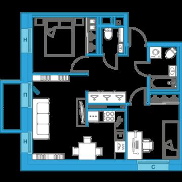 Продажа квартиры с грамотным зонированием - Фото 2