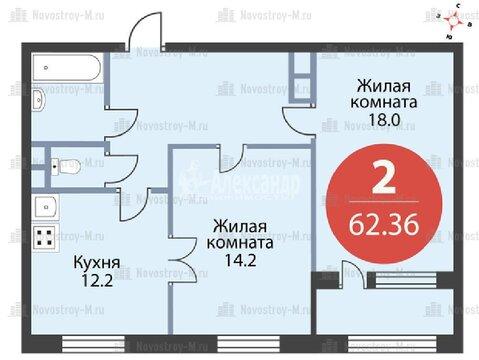 Продажа 2 комнатной квартиры м.Шоссе Энтузиастов (Буденного пр-кт) - Фото 3
