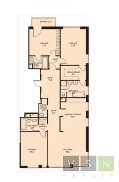 Продается квартира г.Москва, Трубецкая, Купить квартиру в Москве по недорогой цене, ID объекта - 320733821 - Фото 1