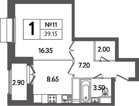 Продам 1-комн. квартиру, 39.15 кв.м. - Фото 4