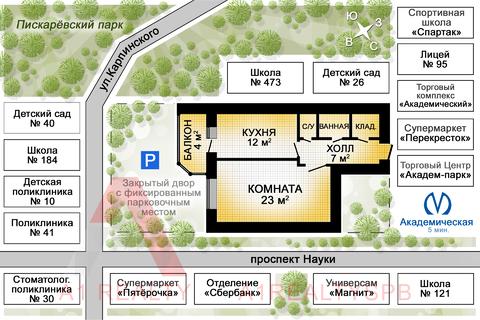 Пп! Прекрасная однокомнатная квартира в новом доме! - Фото 2