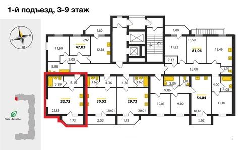 "ЖК ""Дуброва парк"", Владимир, Верхняя Дуброва ул, д.32в, Квартира на . - Фото 2"
