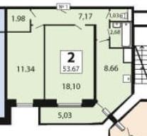 Двухкомнатная Квартира Область, улица Красноармейская, д.57, . - Фото 4