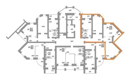 Трехкомнатная квартира на Бульваре Юности 41(кирпич) - Фото 2