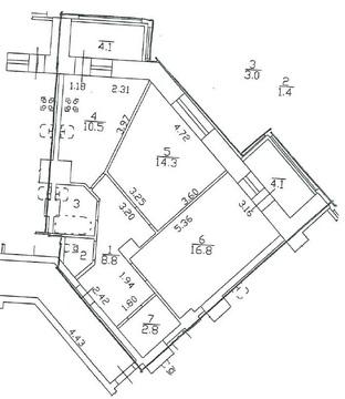 Двухкомнатная квартира на Коломяжском в новом доме - Фото 2