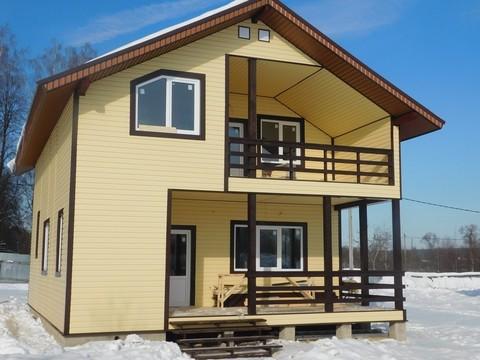 Межозерье. Новый коттедж ( дом ) для ПМЖ в деревне у озера - Фото 1