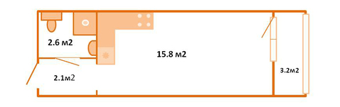 1 870 000 Руб., Продажа студии, Купить квартиру Мурино, Всеволожский район по недорогой цене, ID объекта - 321625980 - Фото 1