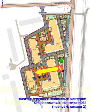 Однокомнатная Квартира Область, улица Марьинская, д.4, Новокосино, до . - Фото 2
