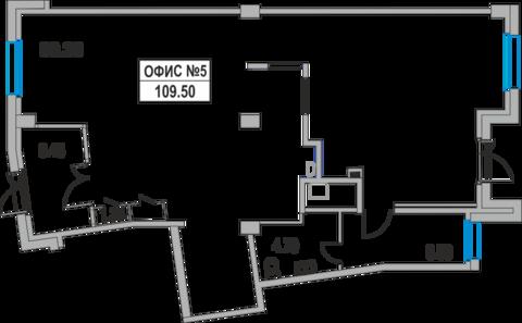 Фасадное коммерческое помещение 109.5 м2 - Фото 1
