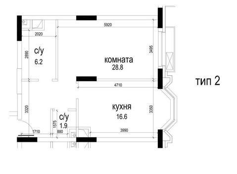 "Однокомнатная квартира в ЖК ""Алые Паруса"". - Фото 3"
