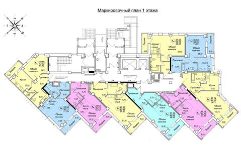 Продажа 1-комнатной квартиры, 39.5 м2, Архитектора Валерия Зянкина, д. . - Фото 1