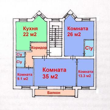 Просторная 4-х комнатная квартира 125 м2 в центре Харьковской горы с . - Фото 1