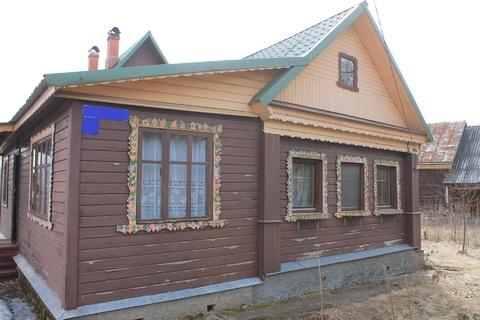 Продам дом в деревне за участком которого протекает река Шерна. - Фото 1