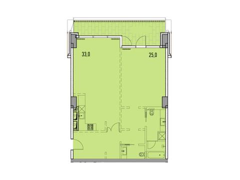 """Продается 2-к. квартира, 88,5 кв.м. в ЖК """"Фили парк"""" - Фото 1"""