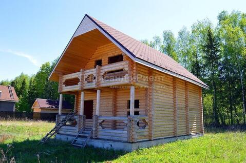 С.Ворсино.ИЖС.Новый дом из бревна.70 км от МКАД по Киевскому шоссе. - Фото 2