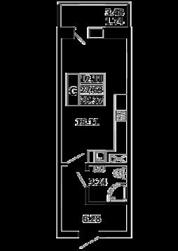 Квартира-студия 29,37 кв. м. в ЖК Никольский посад