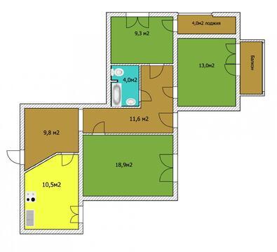 3-х комнатная квартира в историческом центре города, Купить квартиру в Уфе по недорогой цене, ID объекта - 315487868 - Фото 1