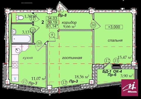 Продажа 2комн.кв. по ул.Героев Тулы,7 - Фото 3