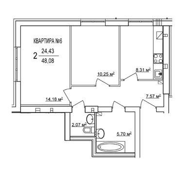 Двухкомнатная квартира в Суздале - Фото 2