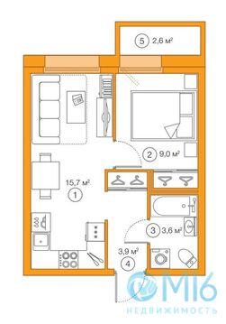 Продажа 1-комнатной квартиры, 32.17 м2 - Фото 2