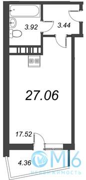 Продажа квартиры-студии, 27.06 м2 - Фото 2