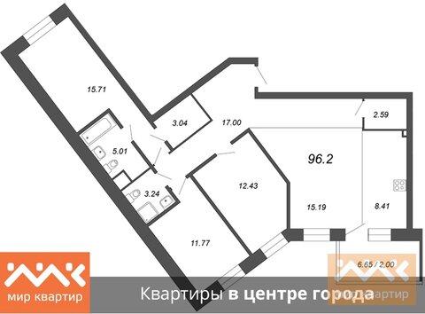 Продажа квартиры, м. Петроградская, Аптекарский пр-кт. - Фото 1