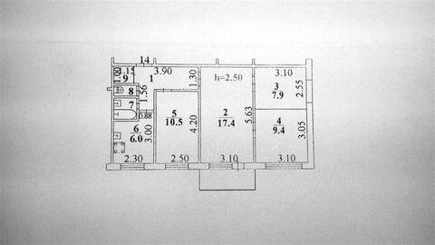 Продается 4-к квартира (хрущевка) по адресу г. Липецк, ул. Космонавтов . - Фото 2