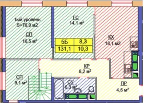2-х уровневый пентхаус на 43/44 этаже в ЖК Арт - Фото 1