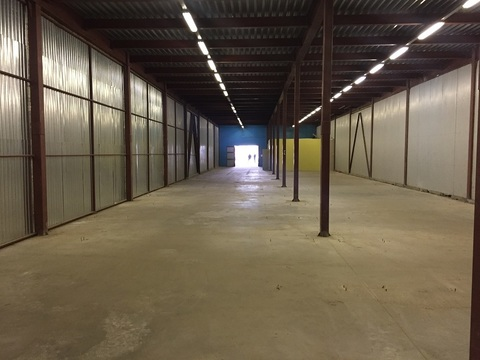 Аренда холодного, складского помещения в пос. Шушары, 1296м2, 1эт - Фото 1