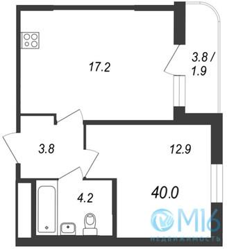 Продажа 1-комнатной квартиры во Всеволожском районе, 40 м2 - Фото 1
