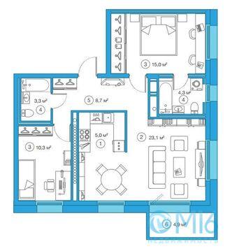 Продажа 2-комнатной квартиры, 69.7 м2 - Фото 2